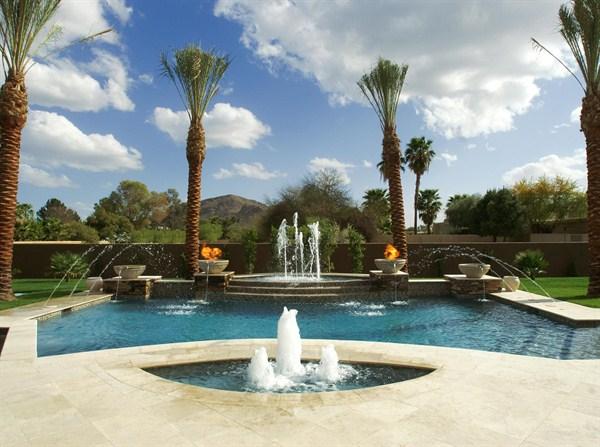 Fountains - Swimming pool fountain ideas ...